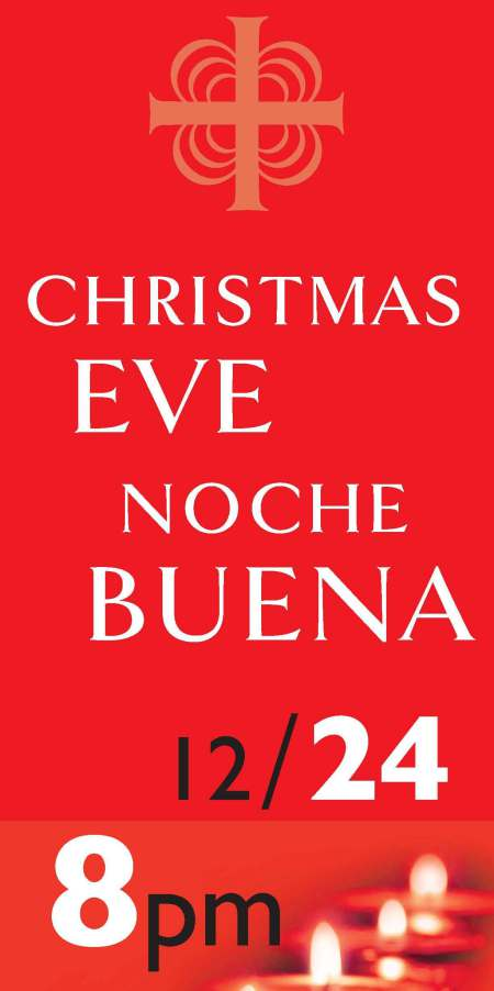 Xmas Eve banner design vertical slice